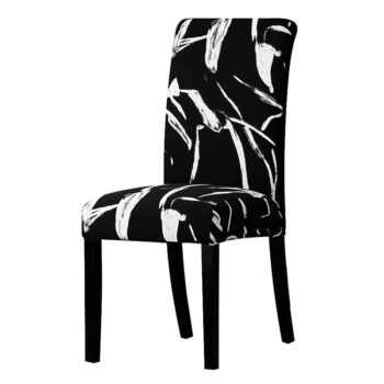 All Black Color Chair Cover Washable Removable 24 Chair And Sofa Covers