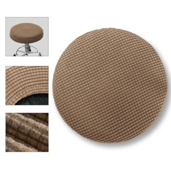 Round Fleece Fabric Seat Cover For Bar Stools 13 Chair And Sofa Covers