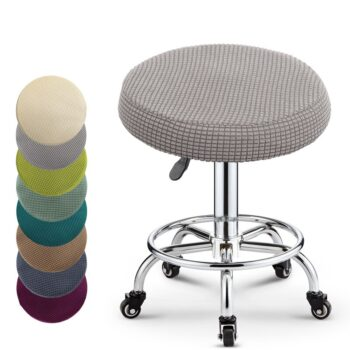 Round Fleece Fabric Seat Cover For Bar Stools 6 Chair And Sofa Covers