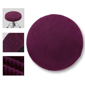 Round Fleece Fabric Seat Cover For Bar Stools 18 Chair And Sofa Covers