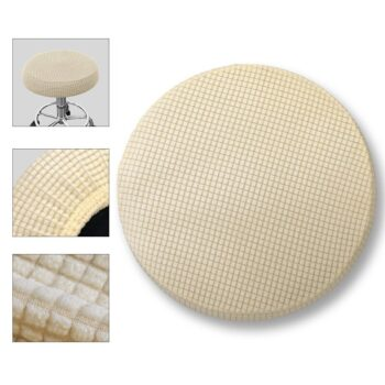 Round Fleece Fabric Seat Cover For Bar Stools 14 Chair And Sofa Covers