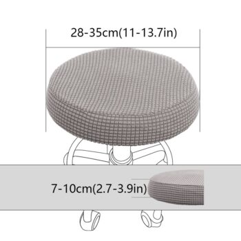 Round Fleece Fabric Seat Cover For Bar Stools 7 Chair And Sofa Covers
