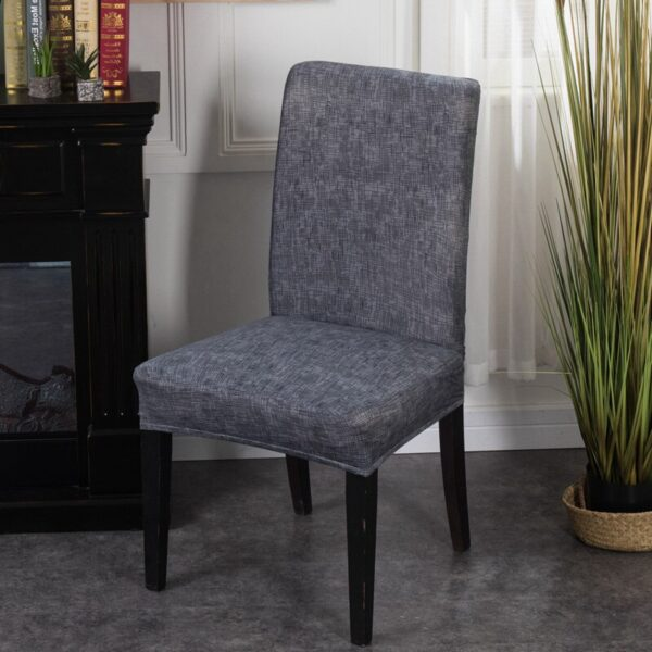 Black &Amp; White Stretchable Chair Cover For Dining Chairs 18 Chair And Sofa Covers