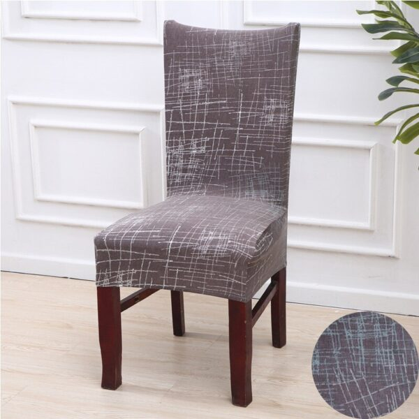 Black &Amp; White Stretchable Chair Cover For Dining Chairs 20 Chair And Sofa Covers