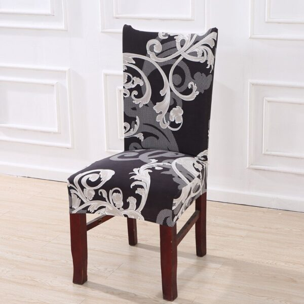 Black &Amp; White Stretchable Chair Cover For Dining Chairs 15 Chair And Sofa Covers