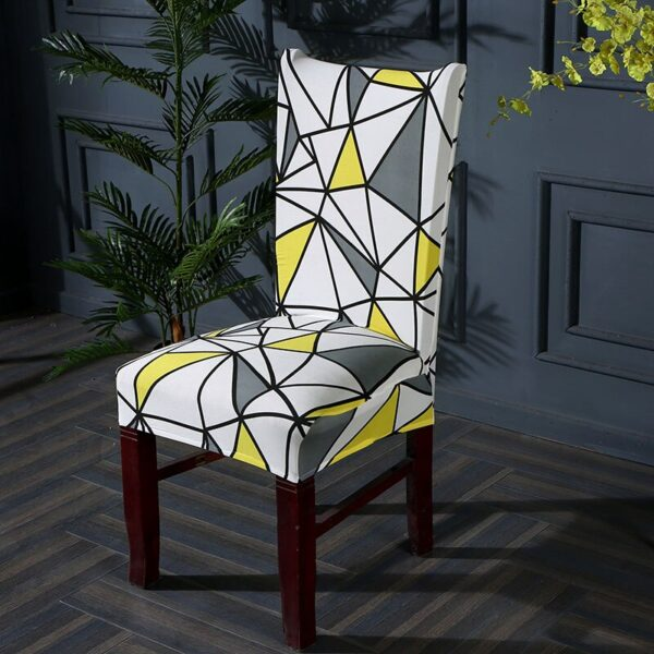 Black &Amp; White Stretchable Chair Cover For Dining Chairs 19 Chair And Sofa Covers