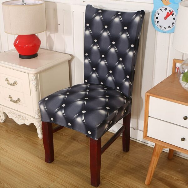 Black &Amp; White Stretchable Chair Cover For Dining Chairs 30 Chair And Sofa Covers