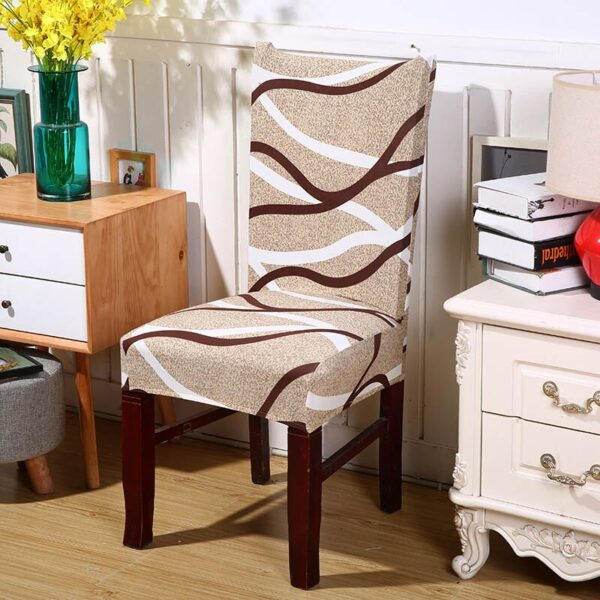 Black &Amp; White Stretchable Chair Cover For Dining Chairs 26 Chair And Sofa Covers