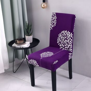 Black &Amp; White Stretchable Chair Cover For Dining Chairs 9 Chair And Sofa Covers
