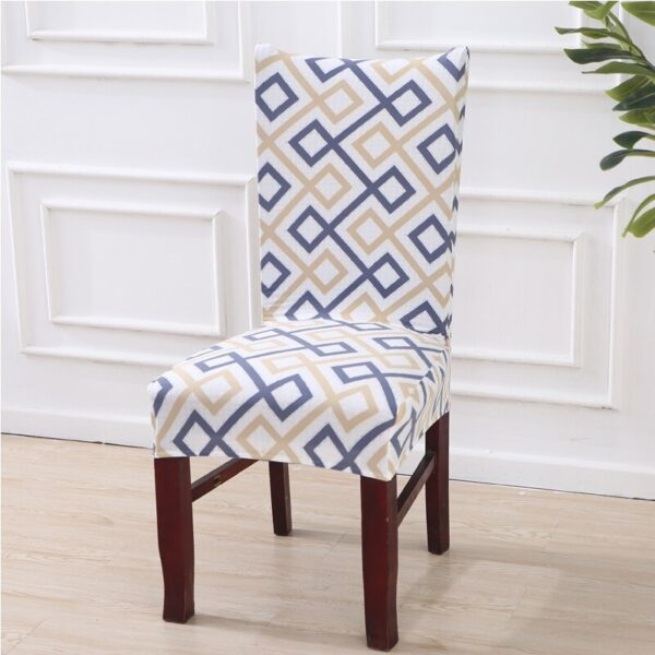 Black &Amp; White Stretchable Chair Cover For Dining Chairs 25 Chair And Sofa Covers