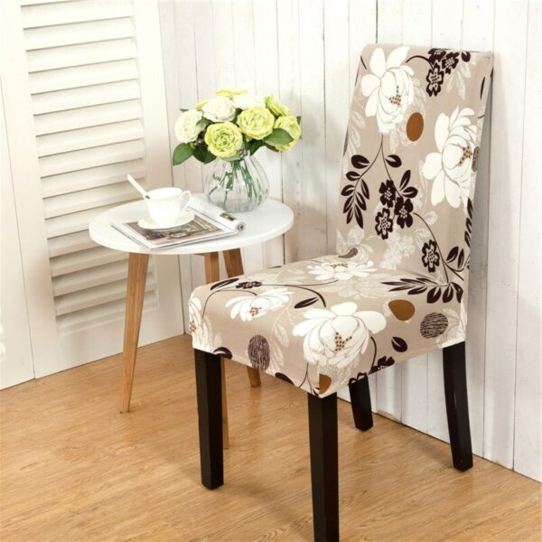 Black &Amp; White Stretchable Chair Cover For Dining Chairs 23 Chair And Sofa Covers