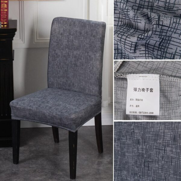 Black &Amp; White Stretchable Chair Cover For Dining Chairs 13 Chair And Sofa Covers