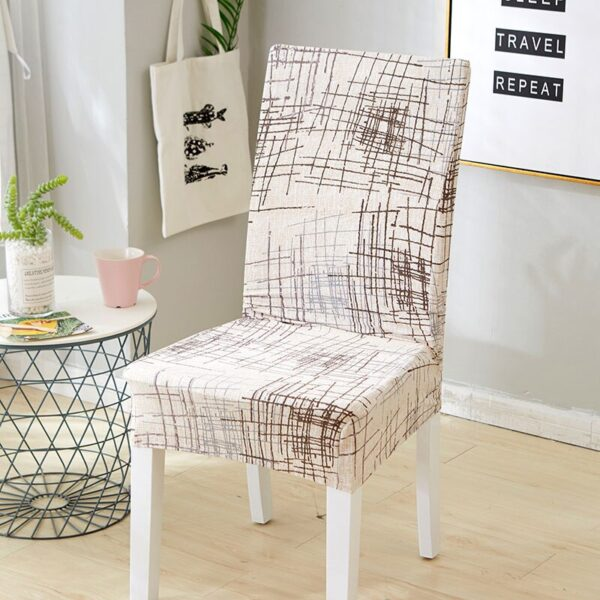 Black &Amp; White Stretchable Chair Cover For Dining Chairs 21 Chair And Sofa Covers