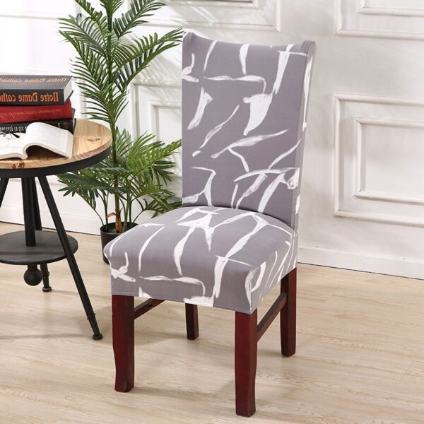 Black &Amp; White Stretchable Chair Cover For Dining Chairs 28 Chair And Sofa Covers