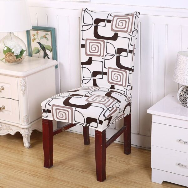 Black &Amp; White Stretchable Chair Cover For Dining Chairs 29 Chair And Sofa Covers