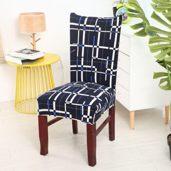 Black &Amp; White Stretchable Chair Cover For Dining Chairs 31 Chair And Sofa Covers