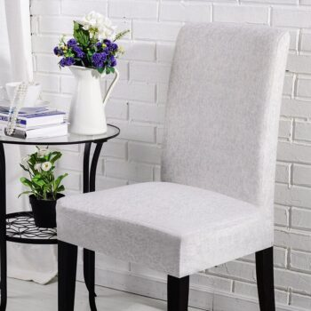 Black &Amp; White Stretchable Chair Cover For Dining Chairs 33 Chair And Sofa Covers