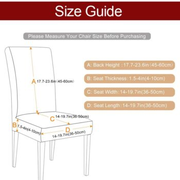 1/2/4/6Pc Removable Chair Covers For Dining Room 11 Chair And Sofa Covers