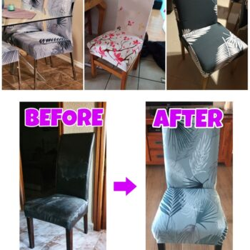 1/2/4/6Pc Removable Chair Covers For Dining Room 10 Chair And Sofa Covers