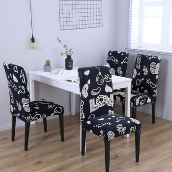 1/2/4/6Pc Removable Chair Covers For Dining Room 34 Chair And Sofa Covers