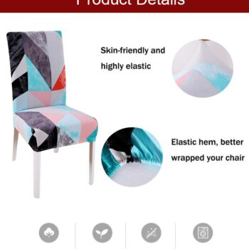 1/2/4/6Pc Removable Chair Covers For Dining Room 12 Chair And Sofa Covers