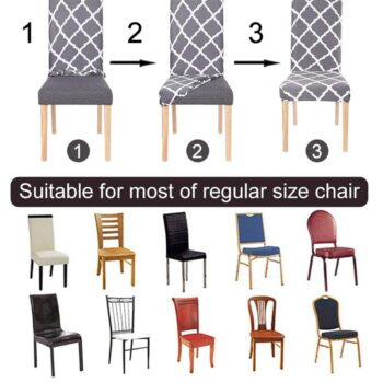 1/2/4/6Pc Removable Chair Covers For Dining Room 15 Chair And Sofa Covers