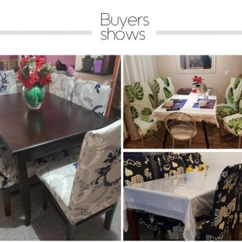 1/2/4/6Pc Removable Chair Covers For Dining Room 9 Chair And Sofa Covers