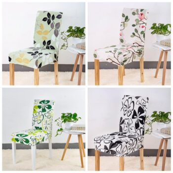Geometric Print Stretchable Chair Cover For Dining Chairs 17 Chair And Sofa Covers