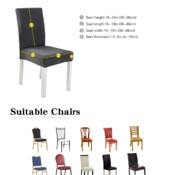 Geometric Print Stretchable Chair Cover For Dining Chairs 9 Chair And Sofa Covers