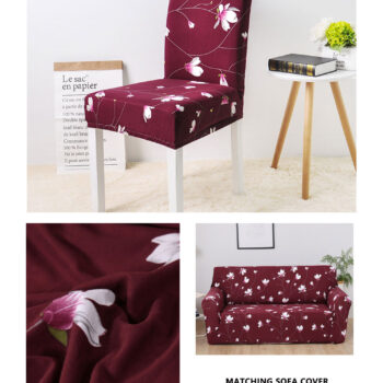 Geometric Print Stretchable Chair Cover For Dining Chairs 13 Chair And Sofa Covers