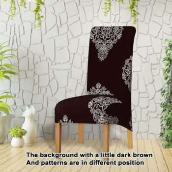 Printed Xl Size Long Back Chair Cover 35 Chair And Sofa Covers