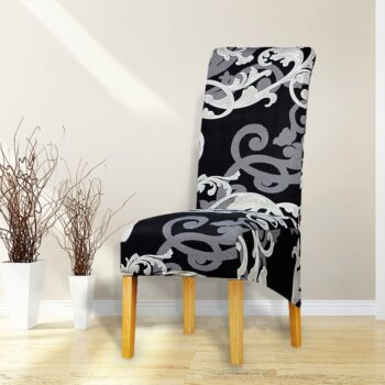 Printed Xl Size Long Back Chair Cover 47 Chair And Sofa Covers