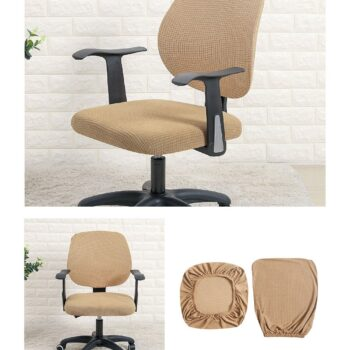 Water Resistant Jacquard Computer Chair Slipcover - Stretchable Computer Chair Cover 20 Chair And Sofa Covers