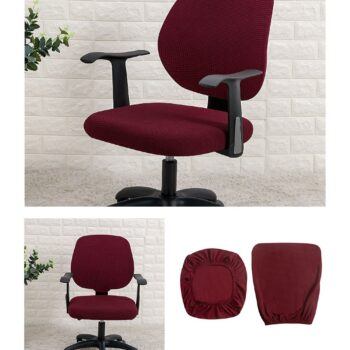 Water Resistant Jacquard Computer Chair Slipcover - Stretchable Computer Chair Cover 15 Chair And Sofa Covers
