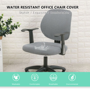 Water Resistant Jacquard Computer Chair Slipcover - Stretchable Computer Chair Cover 7 Chair And Sofa Covers