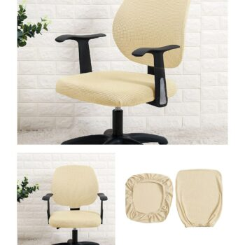 Water Resistant Jacquard Computer Chair Slipcover - Stretchable Computer Chair Cover 18 Chair And Sofa Covers