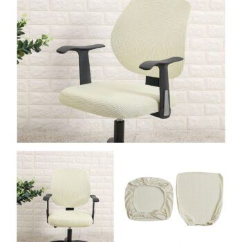 Water Resistant Jacquard Computer Chair Slipcover - Stretchable Computer Chair Cover 17 Chair And Sofa Covers