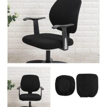 Water Resistant Jacquard Computer Chair Slipcover - Stretchable Computer Chair Cover 13 Chair And Sofa Covers