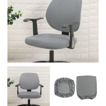 Water Resistant Jacquard Computer Chair Slipcover - Stretchable Computer Chair Cover 14 Chair And Sofa Covers