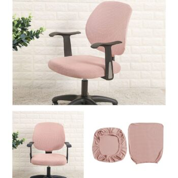 Water Resistant Jacquard Computer Chair Slipcover - Stretchable Computer Chair Cover 12 Chair And Sofa Covers