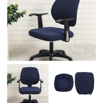Water Resistant Jacquard Computer Chair Slipcover - Stretchable Computer Chair Cover 11 Chair And Sofa Covers