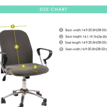 Water Resistant Jacquard Computer Chair Slipcover - Stretchable Computer Chair Cover 10 Chair And Sofa Covers