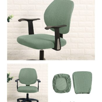 Water Resistant Jacquard Computer Chair Slipcover - Stretchable Computer Chair Cover 19 Chair And Sofa Covers