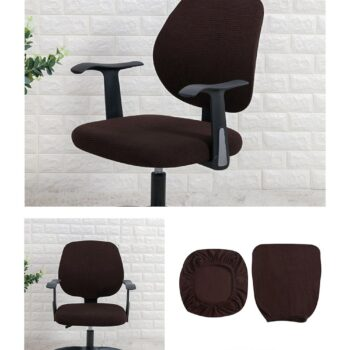 Water Resistant Jacquard Computer Chair Slipcover - Stretchable Computer Chair Cover 16 Chair And Sofa Covers
