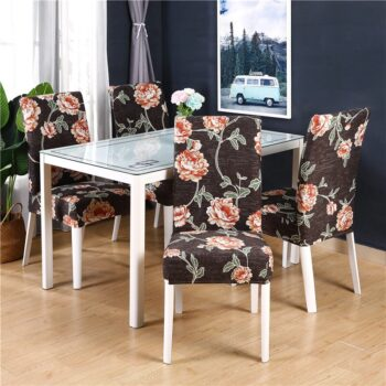 White Printed Dining Chair Covers 17 Chair And Sofa Covers