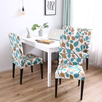 White Printed Dining Chair Covers 34 Chair And Sofa Covers