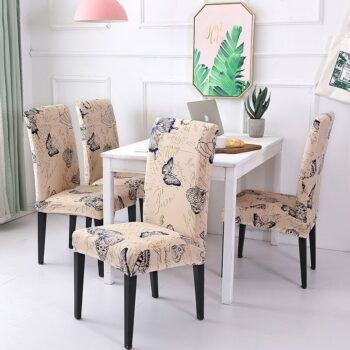 White Printed Dining Chair Covers 29 Chair And Sofa Covers