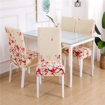 White Printed Dining Chair Covers 16 Chair And Sofa Covers