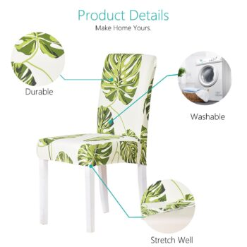 White Printed Dining Chair Covers 10 Chair And Sofa Covers