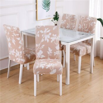 White Printed Dining Chair Covers 25 Chair And Sofa Covers
